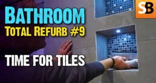 Bathroom Renovation #9 Time for Tiling
