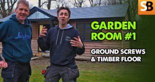 Ground Screws & Timber Floor – Garden Room #1