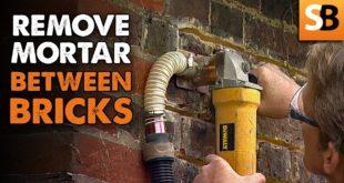 Removing Mortar Between Bricks with Morta Sortas