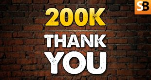 200K! A Big Thank You Message from Team SB