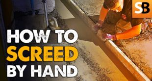 How to Screed a Floor by Hand