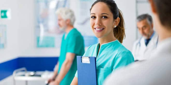 Young nurse working at the hospital