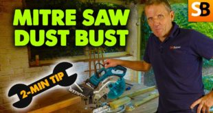 mitre saw dust bust 2 minute tip youtube thumbnail