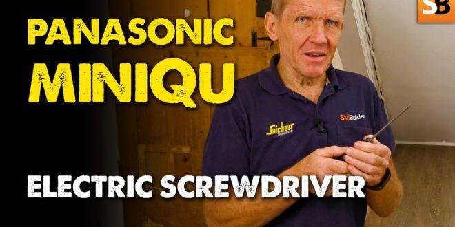 panasonic miniqu electric screwdriver youtube thumbnail