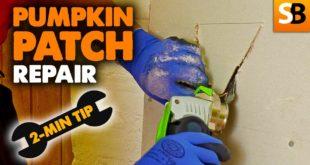 drywall pumpkin patch fix 2 minute tip youtube thumbnail