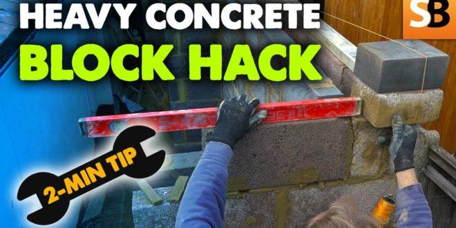 heavy concrete block hack idea 2 minute tip youtube thumbnail