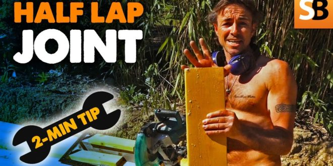how to cut a half lap joint 2 minute tip youtube thumbnail