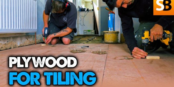 how to plywood a floor for tiling youtube thumbnail
