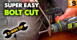 super easy bolt cutting 2 minute tip youtube thumbnail