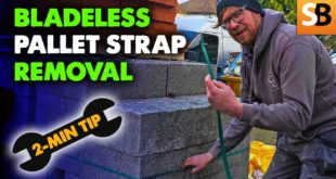 bladeless pallet strap removal 2 minute tip youtube thumbnail