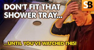 do not fit a shower tray until youve watched this youtube thumbnail