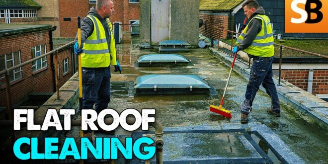 flat roof repair part 1 cleaning with jetvac youtube thumbnail
