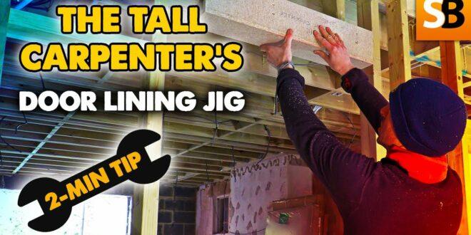 the tall carpenter door lining jig 2 minute tip youtube thumbnail