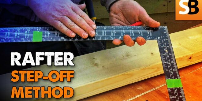 carpentry made simple rafter step off method youtube thumbnail