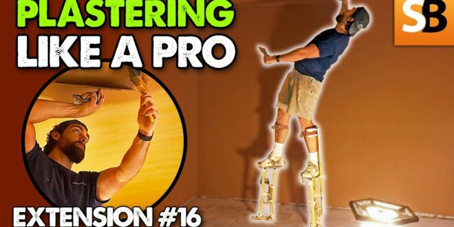 plastering ceilings and walls extension build 16 youtube thumbnail