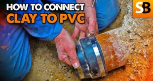 how to cut and connect clay pipe to pvc youtube thumbnail
