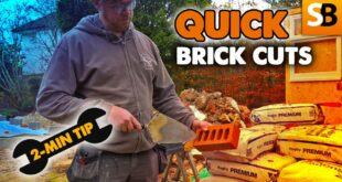 super quick brick cuts 2 minute tip youtube thumbnail