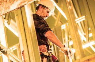 Worker and the Construction