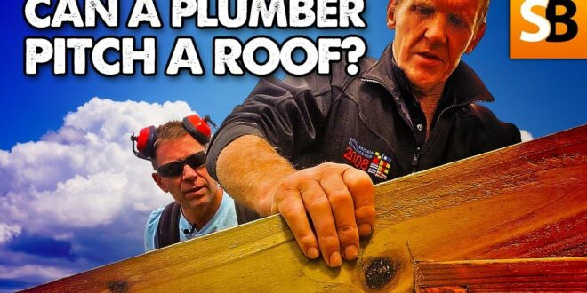 can a plumber pitch a double hipped roof youtube thumbnail