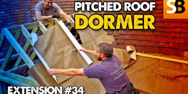 how to build a pitched roof dormer in a day extension 34 youtube thumbnail