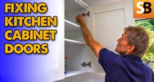 how to fix wonky kitchen cabinet doors youtube thumbnail